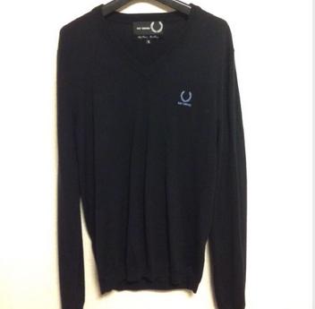 【50%OFF】RAF SIMONS × FRED PERRY コラボレーションVネックセーター