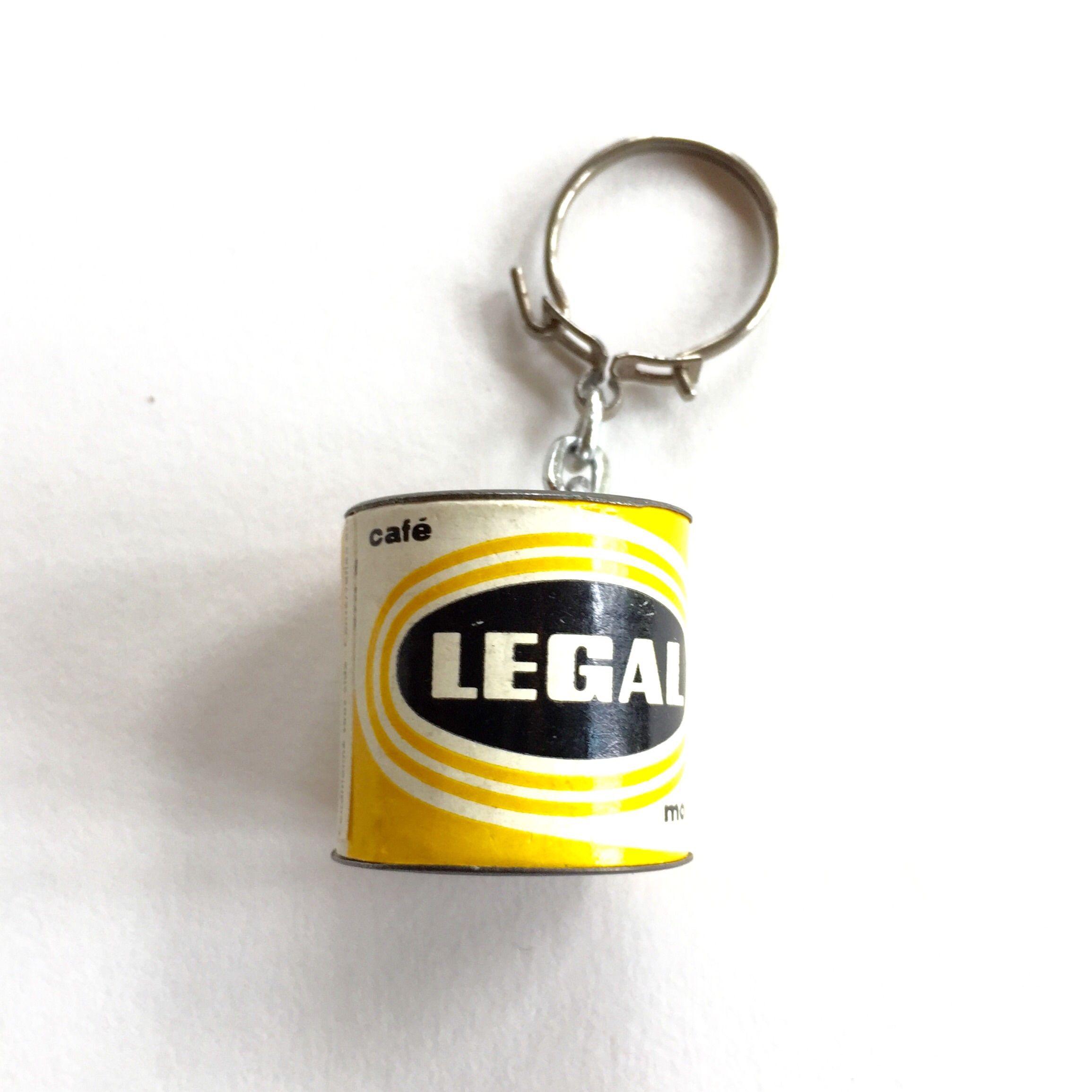 France 1960's キーホルダー CAFE LEGAL コーヒー缶