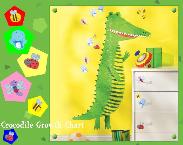 身長計ウォールステッカー【Crocodile Growth Chart 身長計】キッズインテリア