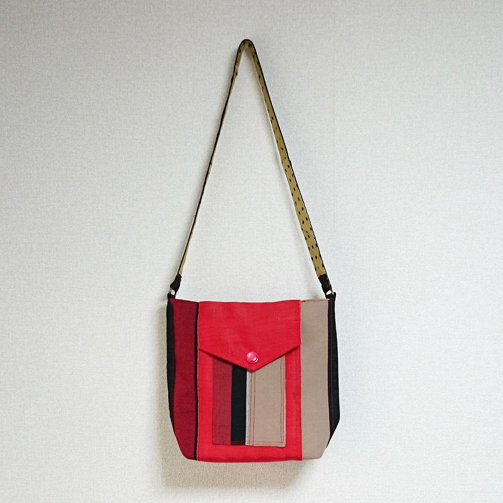 着物生地バッグ:商品番号005