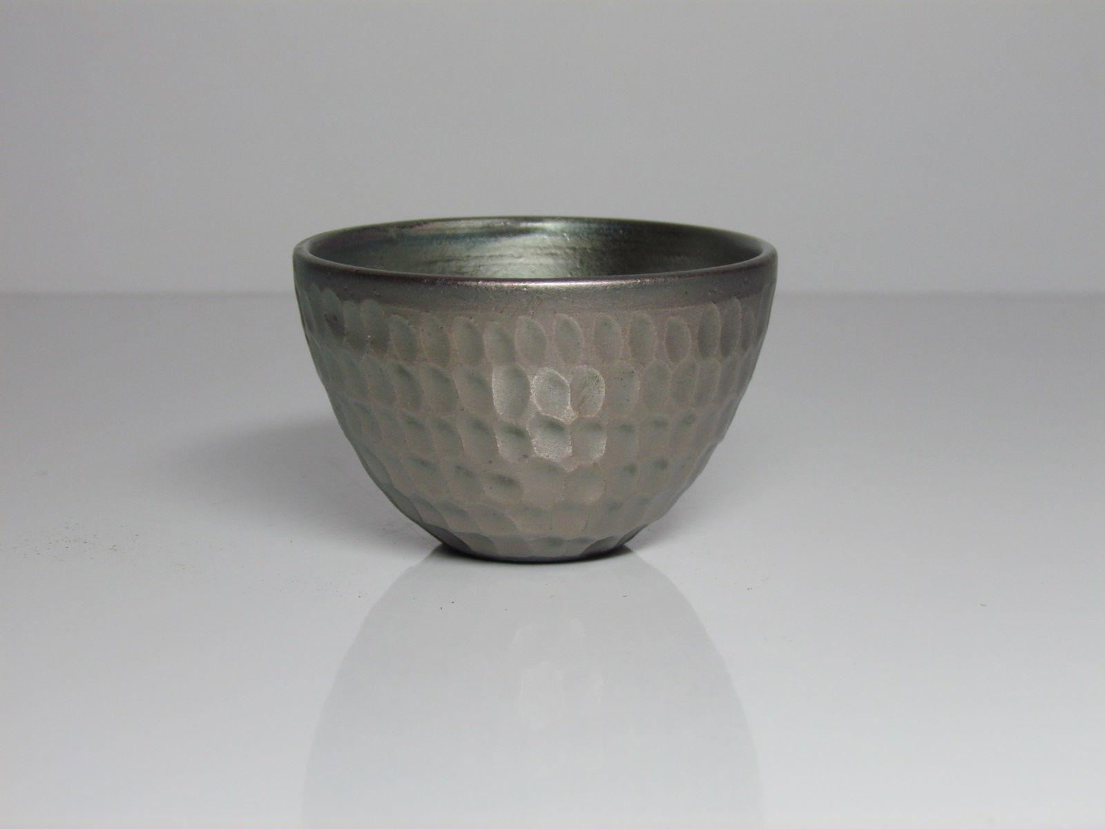 銀化鉄釉☆ぐい呑み