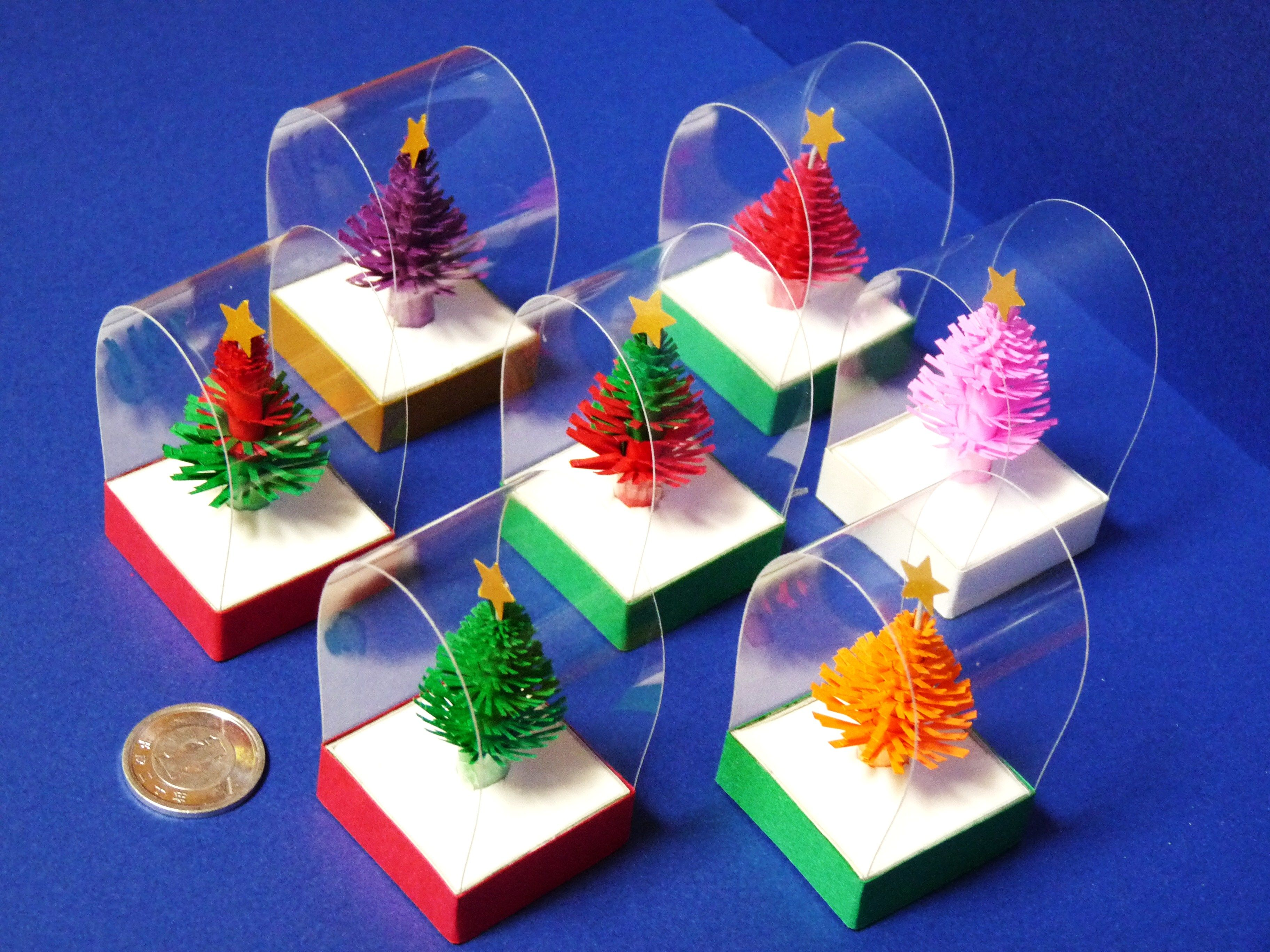 手作り ミニ クリスマスツリー