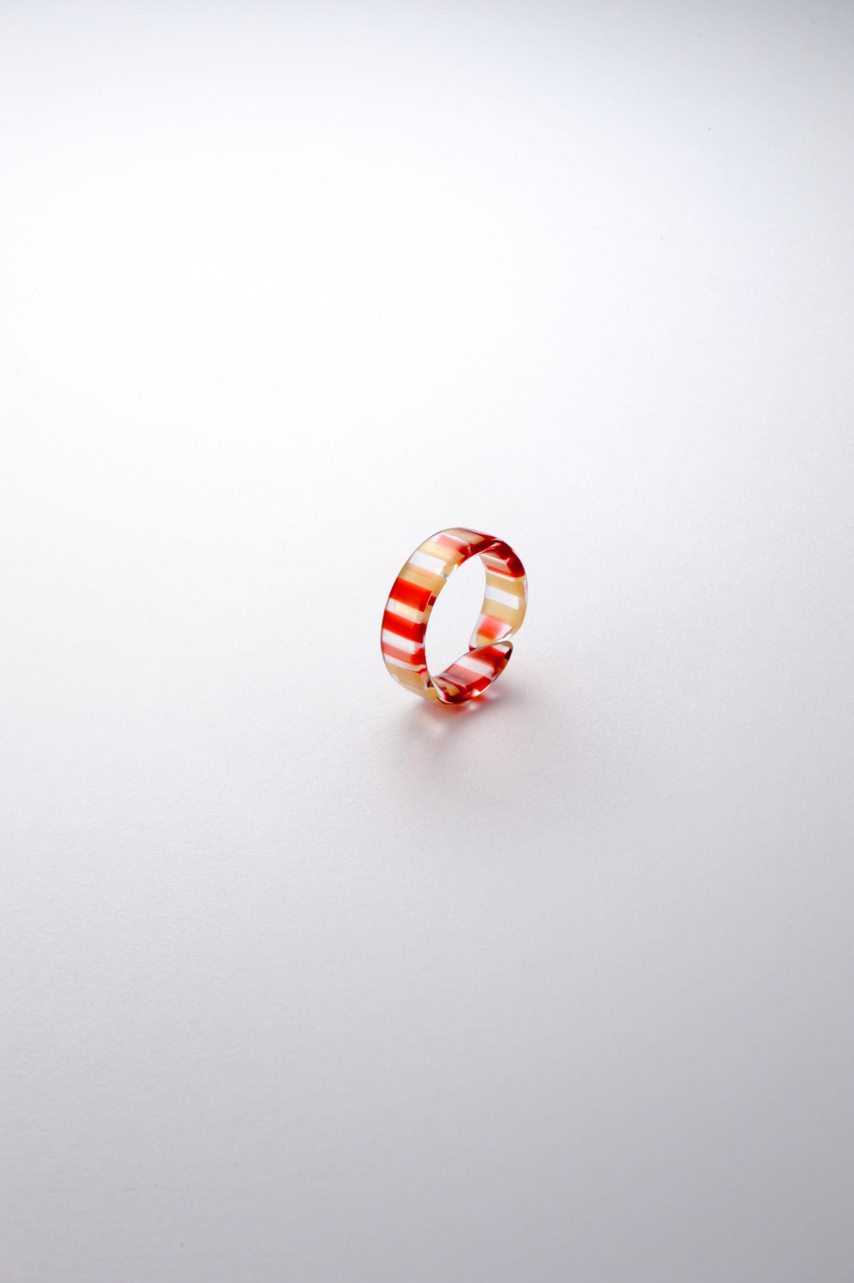 ピンキーリング クリアレッド【KISSO pinkyring 002】