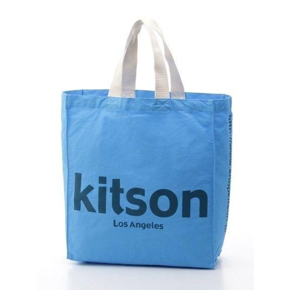 kitson キットソンオリジナルショッパートート(ブルー)洗い加工あり