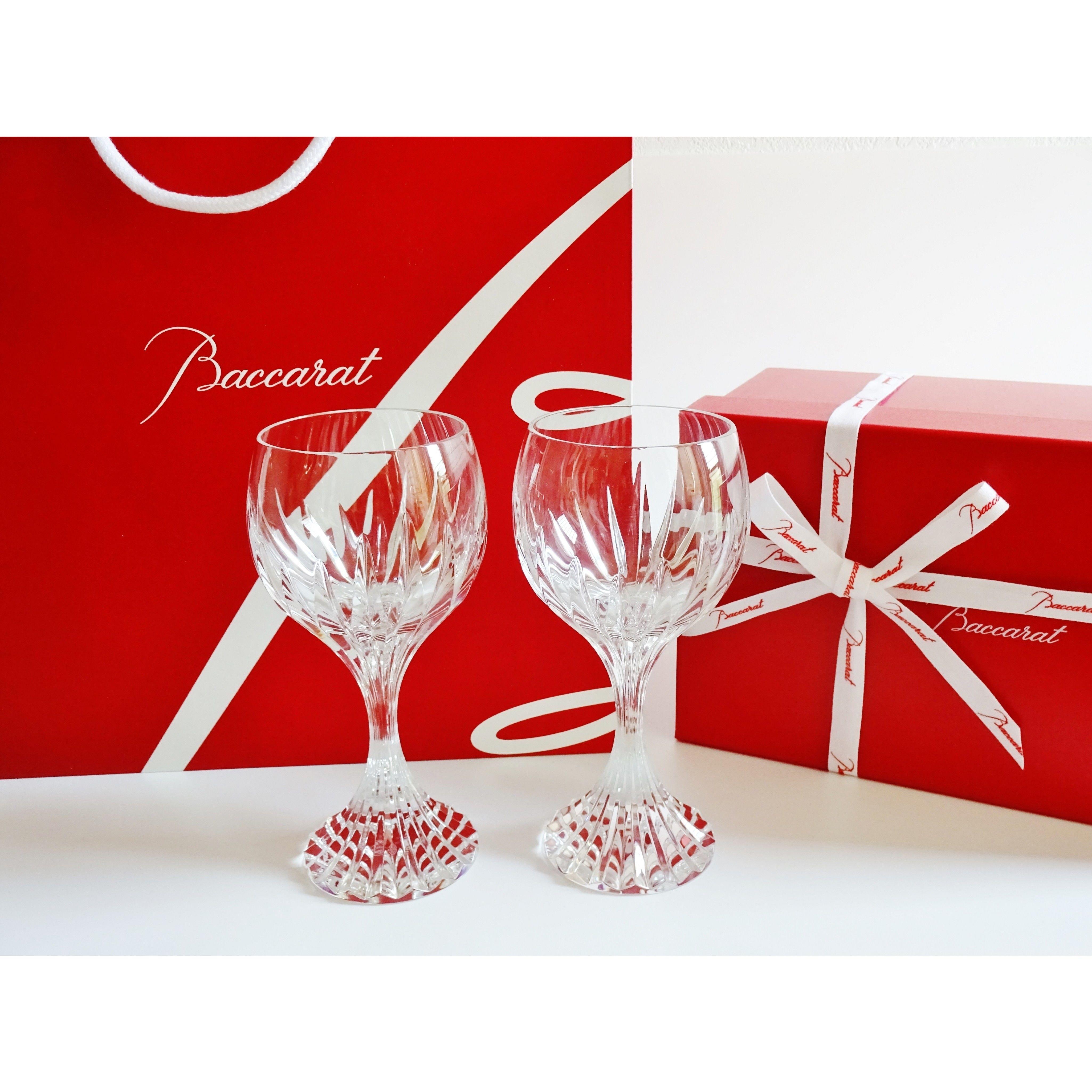 バカラ マッセナ ワイングラスL ペア(バカラブランド紙袋、リボン付き)