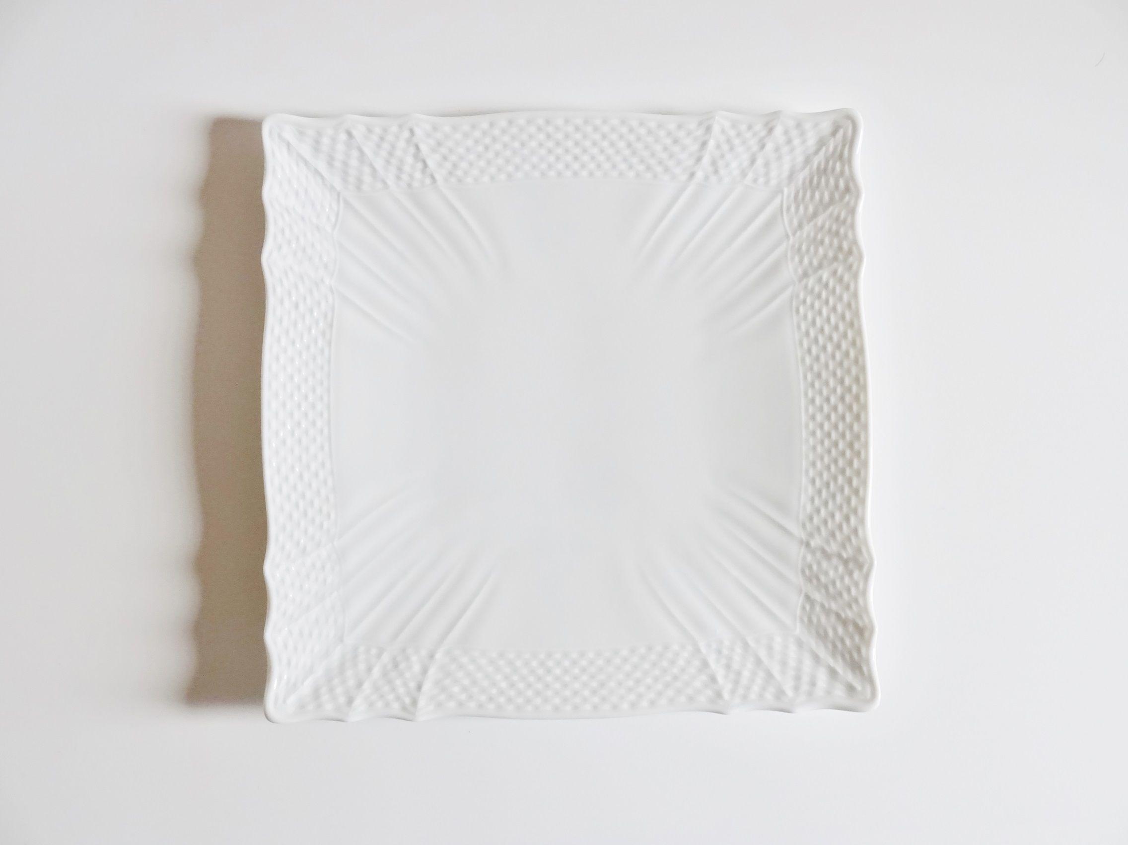 リチャードジノリ ベッキオホワイト スクエアプレート22cm