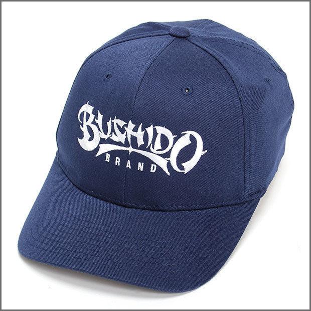 BUSHIDO BRAND FITED CAP TYPE1 NAVY