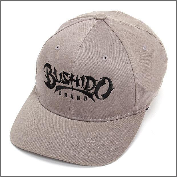 BUSHIDO BRAND FITED CAP TYPE1 GRAY