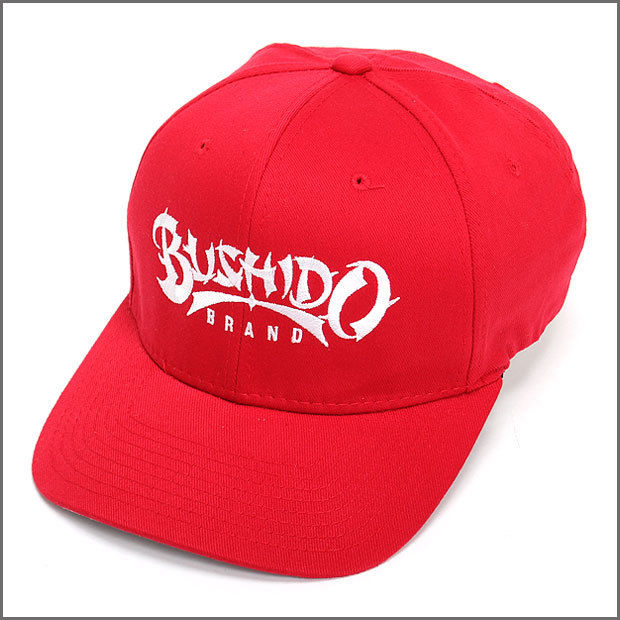 BUSHIDO BRAND FITED CAP TYPE1 RED