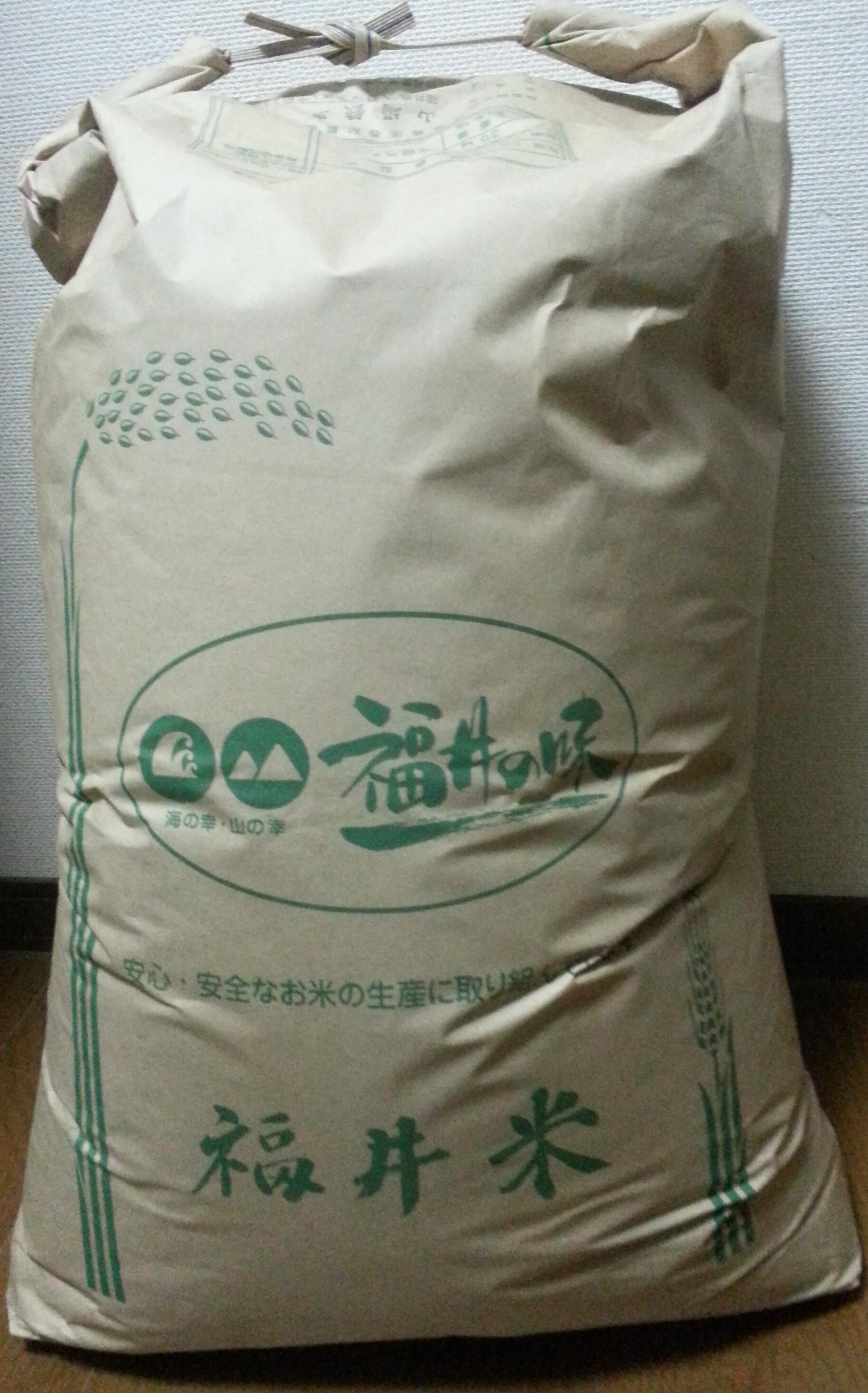 こしひかり精米後25kgで送付(29年度福井県勝山市産米)送料込