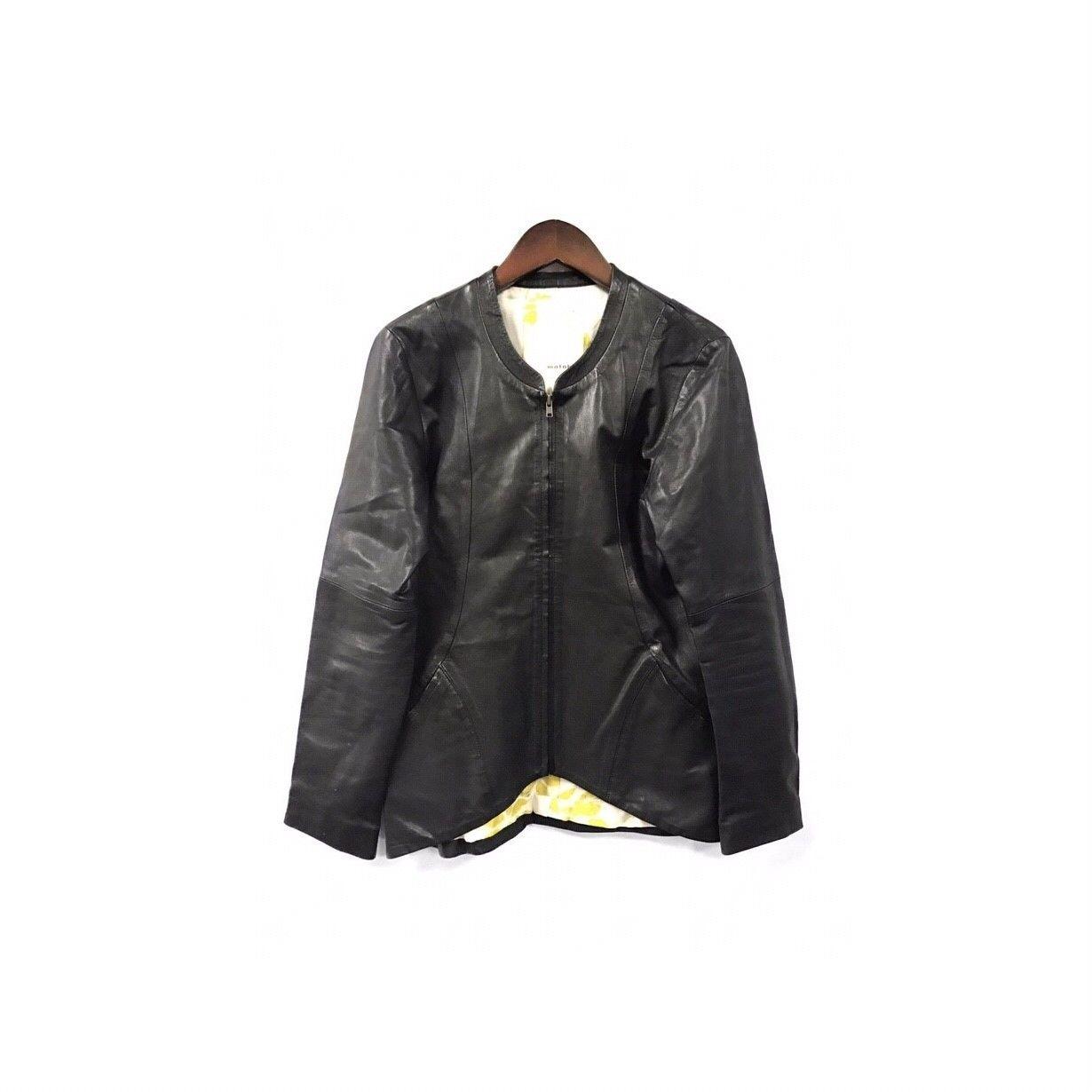 matohu - Leather Nocollar Jacket (size - M) ?22000+tax→?17600+tax