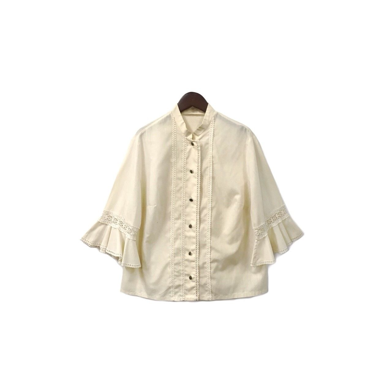 USED - Design Flared Blouse ?7000+tax