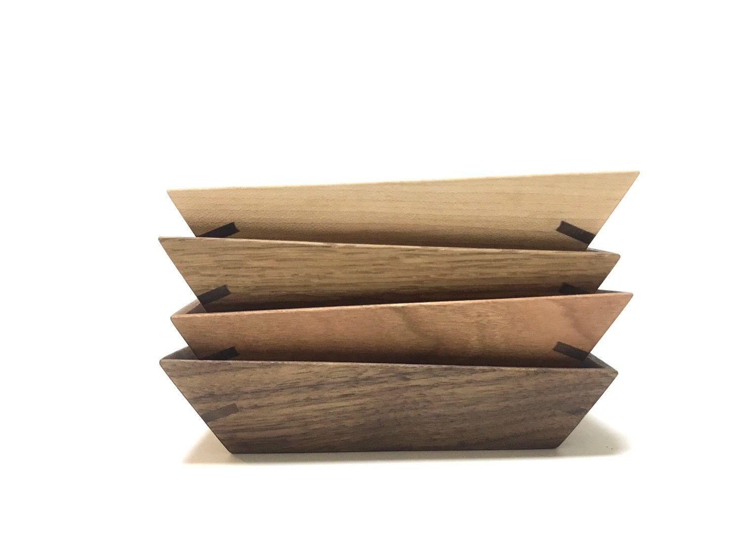 【若い衆シリーズ】wood  tray(4枚セット) 佐藤竜