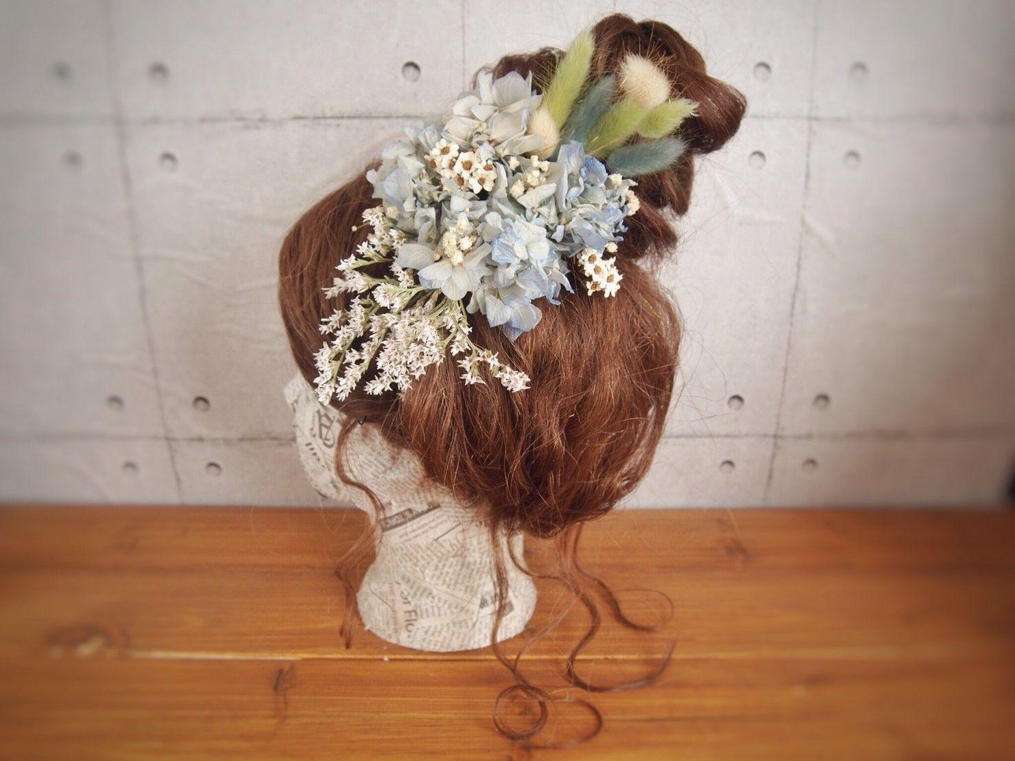 manmaru~hanafuji~プリザーブドフラワーのヘッドドレス