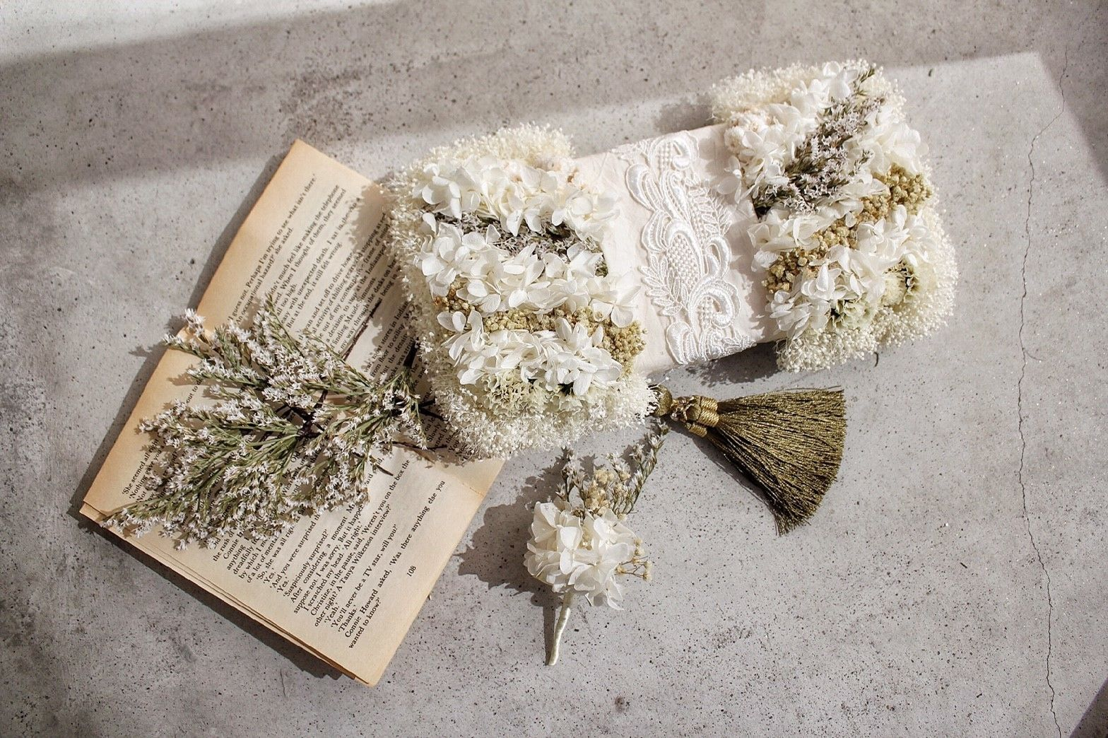bouquet set~クラッチバッグブーケ~ヘッドドレス・ブートニア