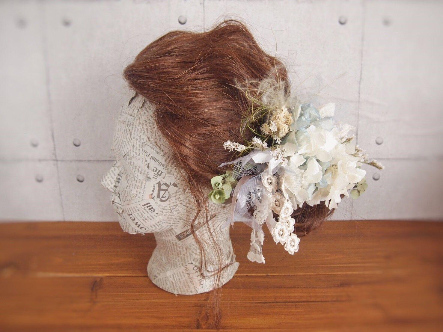 shirayuri プリザーブドフラワーのヘッドドレス
