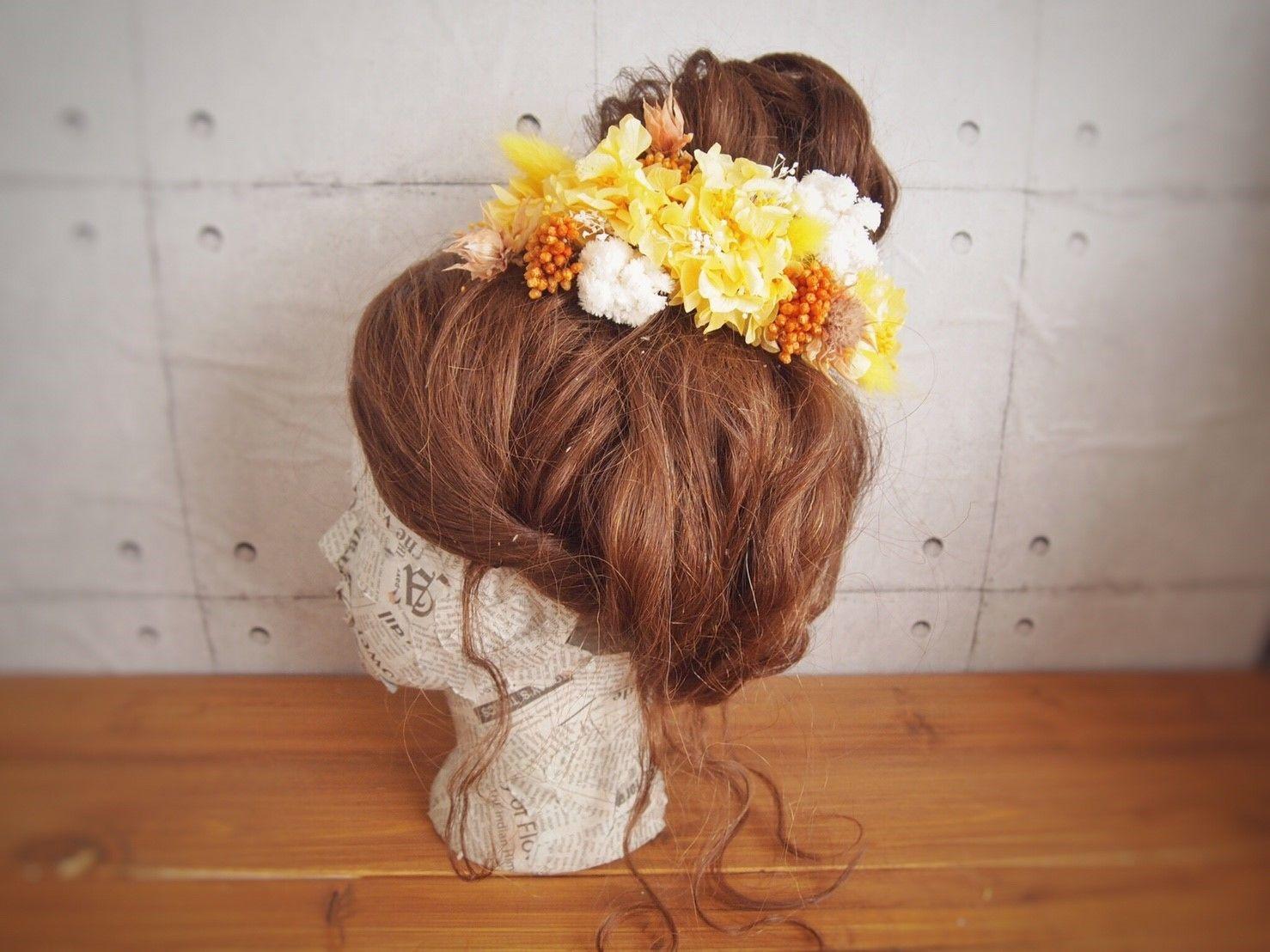 manmaru~urumishu~プリザーブドフラワーのヘッドドレス