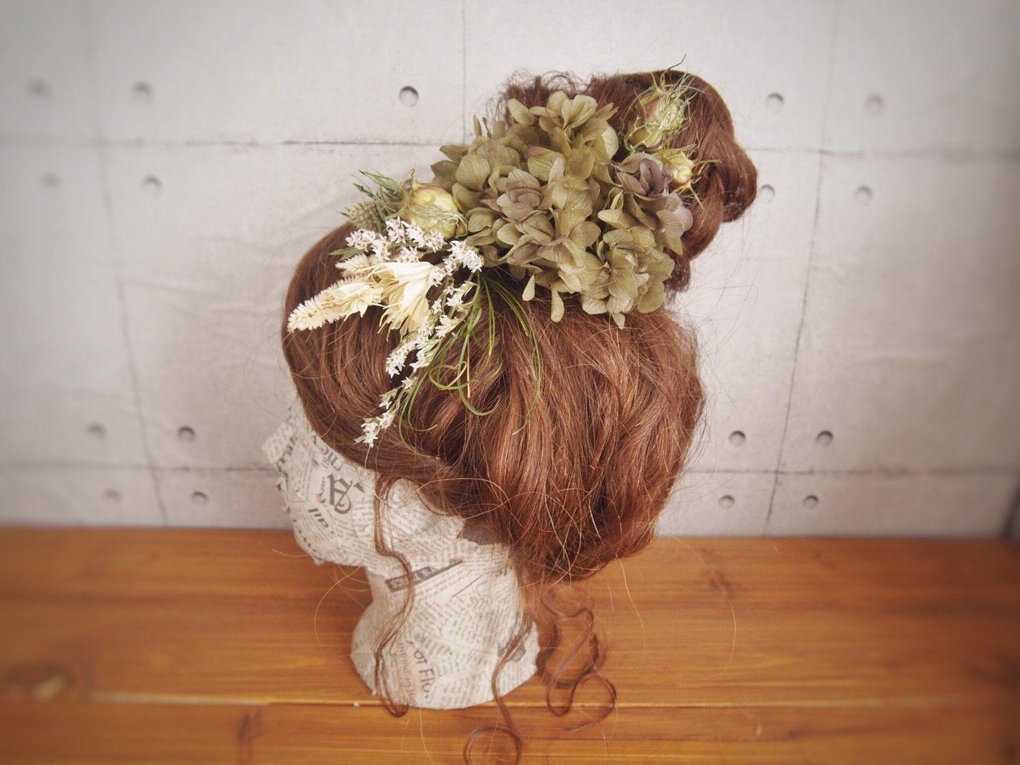 manmaru~kokecha~プリザーブドフラワーのヘッドドレス