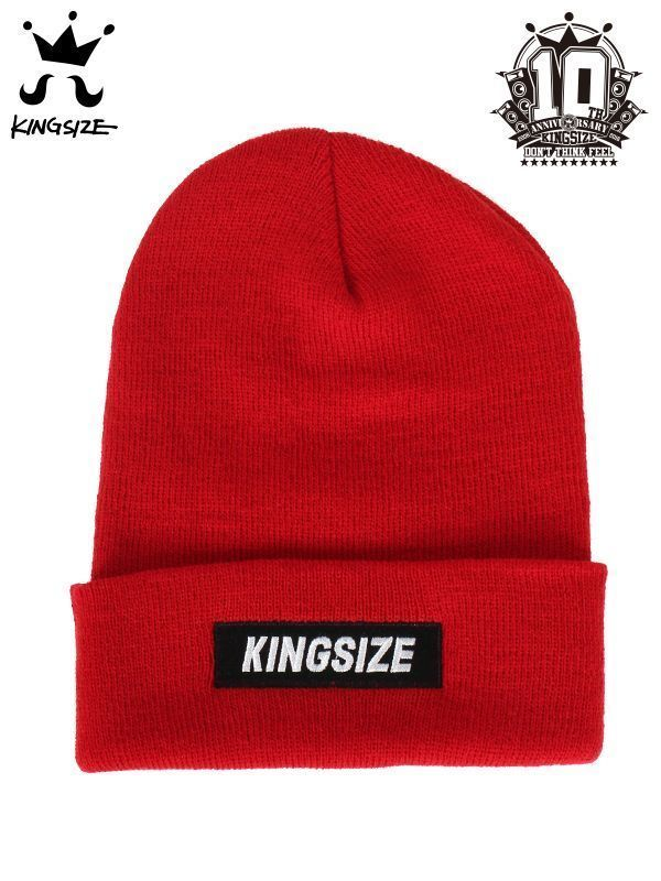 KINGSIZE /box logo knit cap