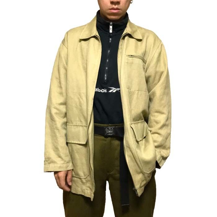 【USED】90'S DKNY COVERALL BEIGE