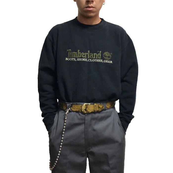 【USED】90'S TIMBERLAND EMBROIDERY LOGO SWEATSHIRT