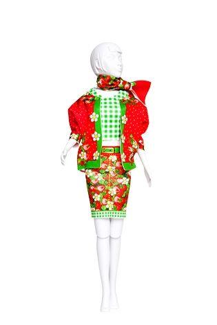 Lev.1 お人形の洋服作り Dress your doll -いちご-