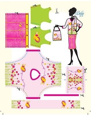 Lev.1 着せ替え人形のお洋服作り Dress your doll -pink-