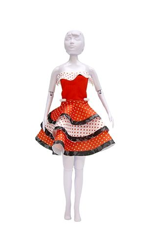 Lev.1 お人形の洋服作り Dress your doll -フラメンコ-