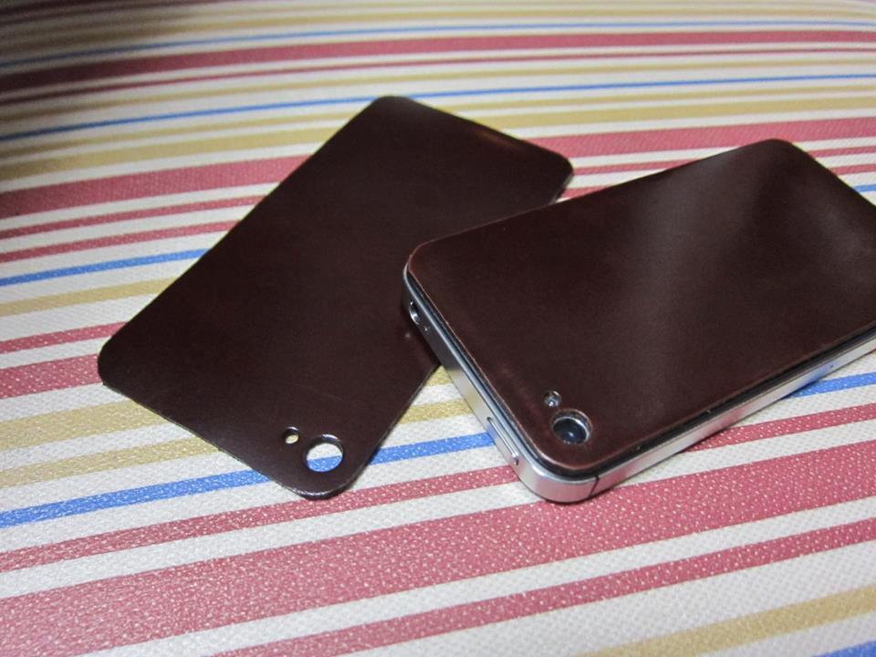 iPhone4/4s用背面カバー(本革)/背面テープあり