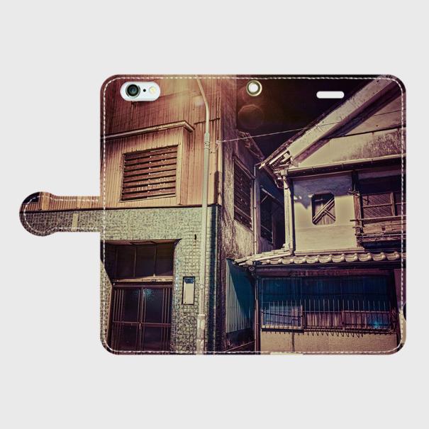大分県・浜脇遊廓 iPhoneケース(手帳型)