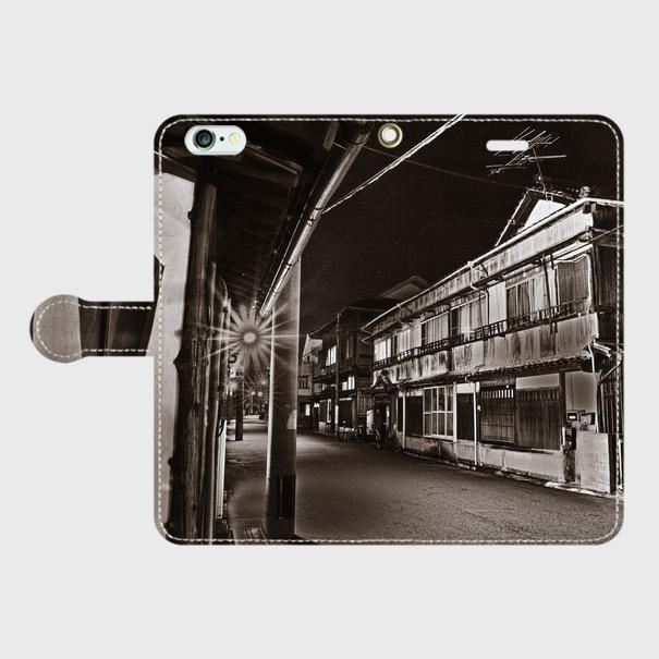 大分県・??遊廓 iPhoneケース(手帳型)