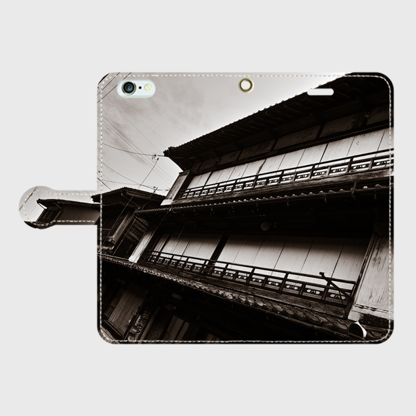 三重県・引本遊廓 iPhoneケース(手帳型)