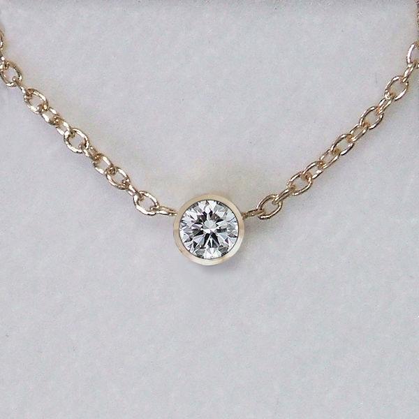 ティファニータイプ0.05カラット天然ダイヤモンドネックレス