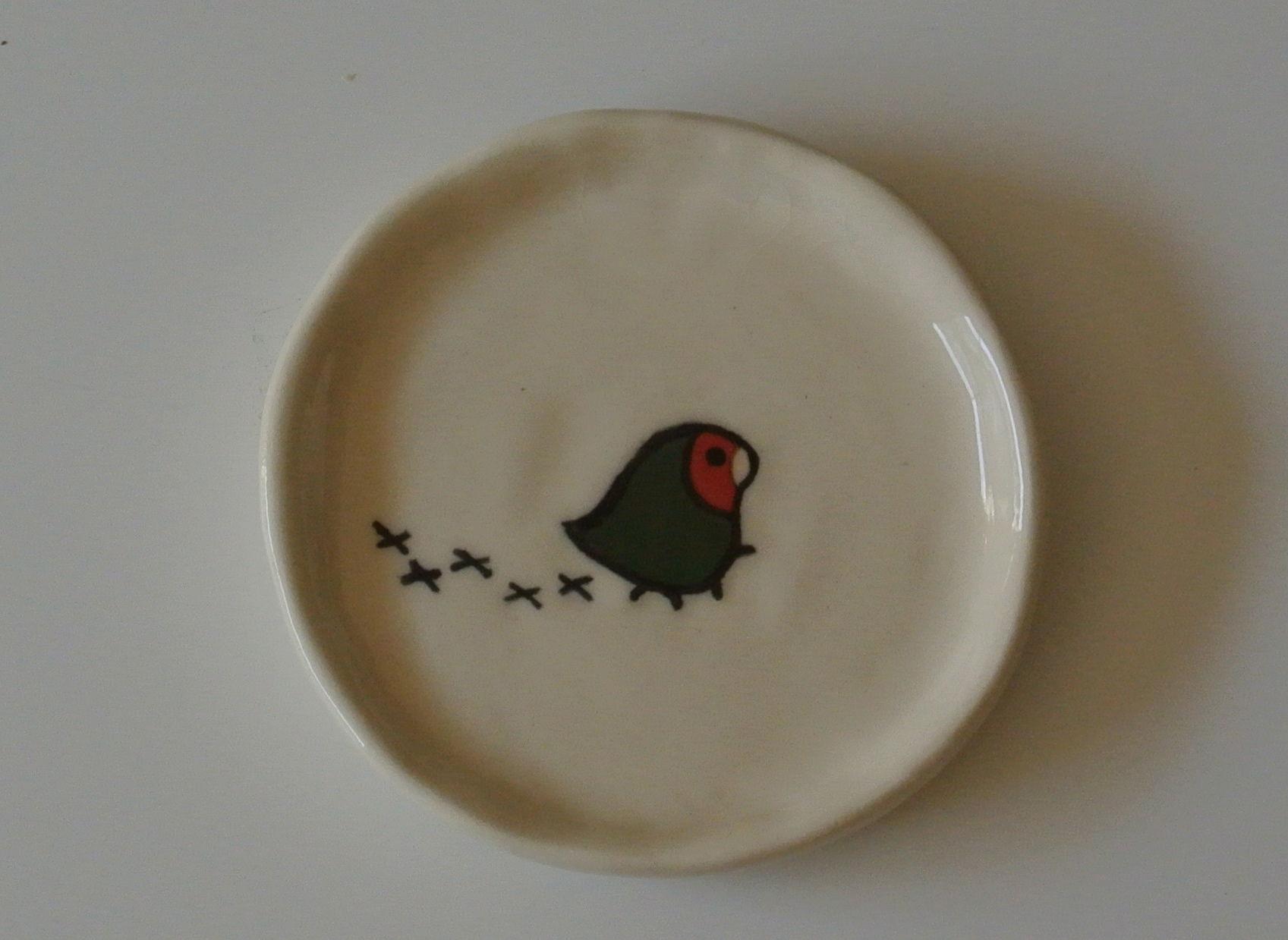 コザクラインコの小皿
