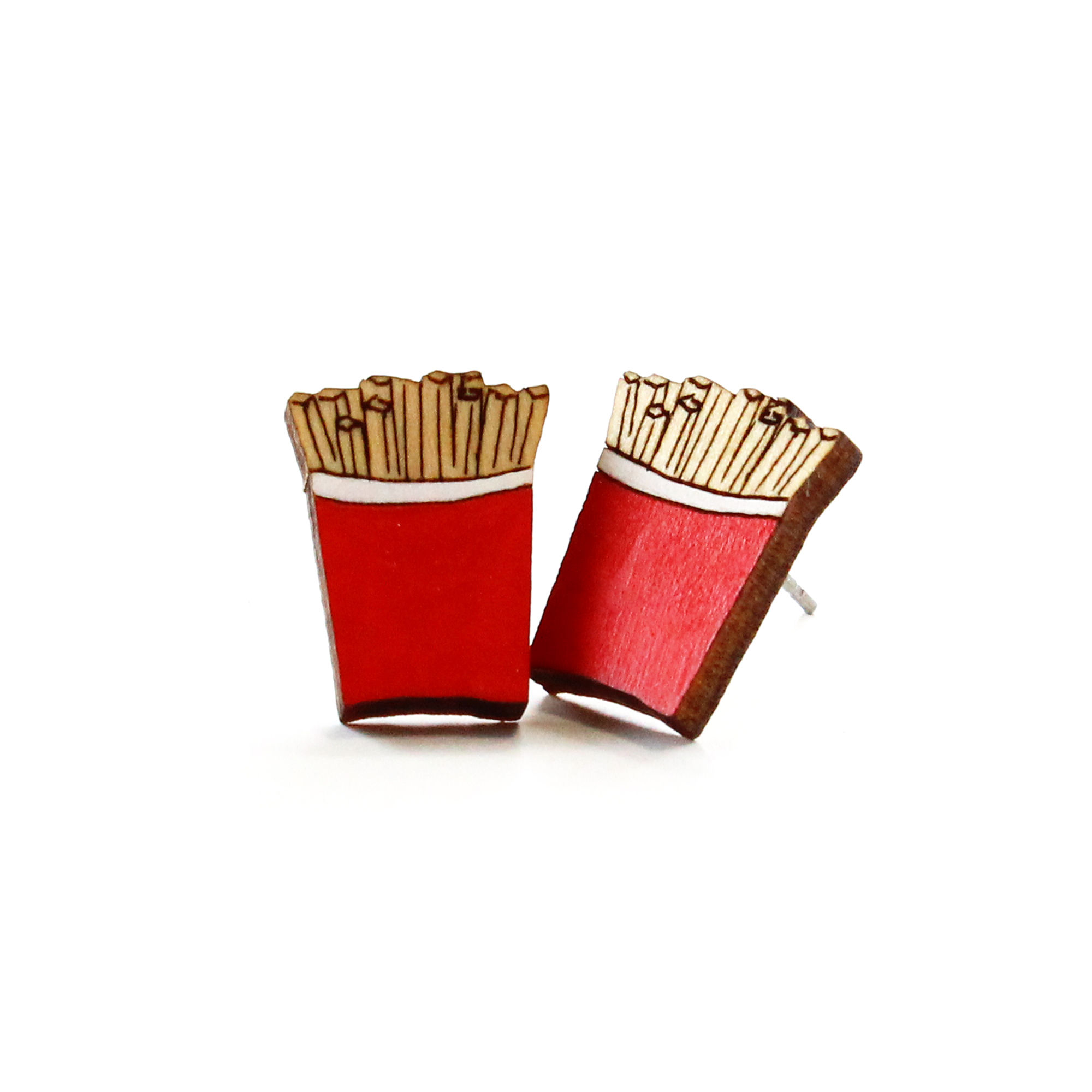 ポテトの木製ピアス/イヤリング