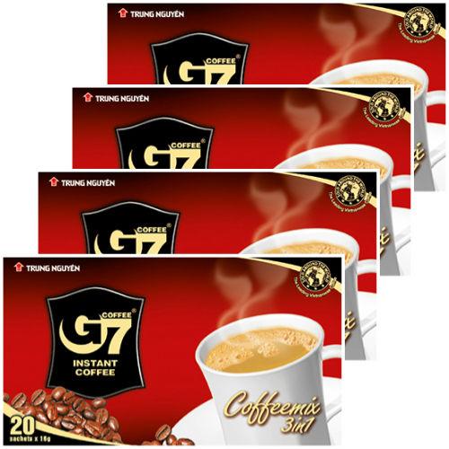 カフェオレ インスタント 【20袋入り/BOX】  ◆4箱セット◆ G7 3in1 instant coffee 【正規輸入品】