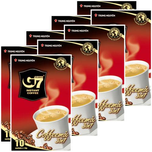 カフェオレ インスタント 【10袋入り/BOX】 ◆8箱セット◆  G7 3in1 instant coffee 【正規輸入品】