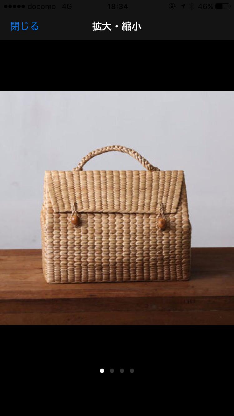 送料無料◆インポート handmade ケリータイプ 天然素材ヒヤシンスのカゴバッグ