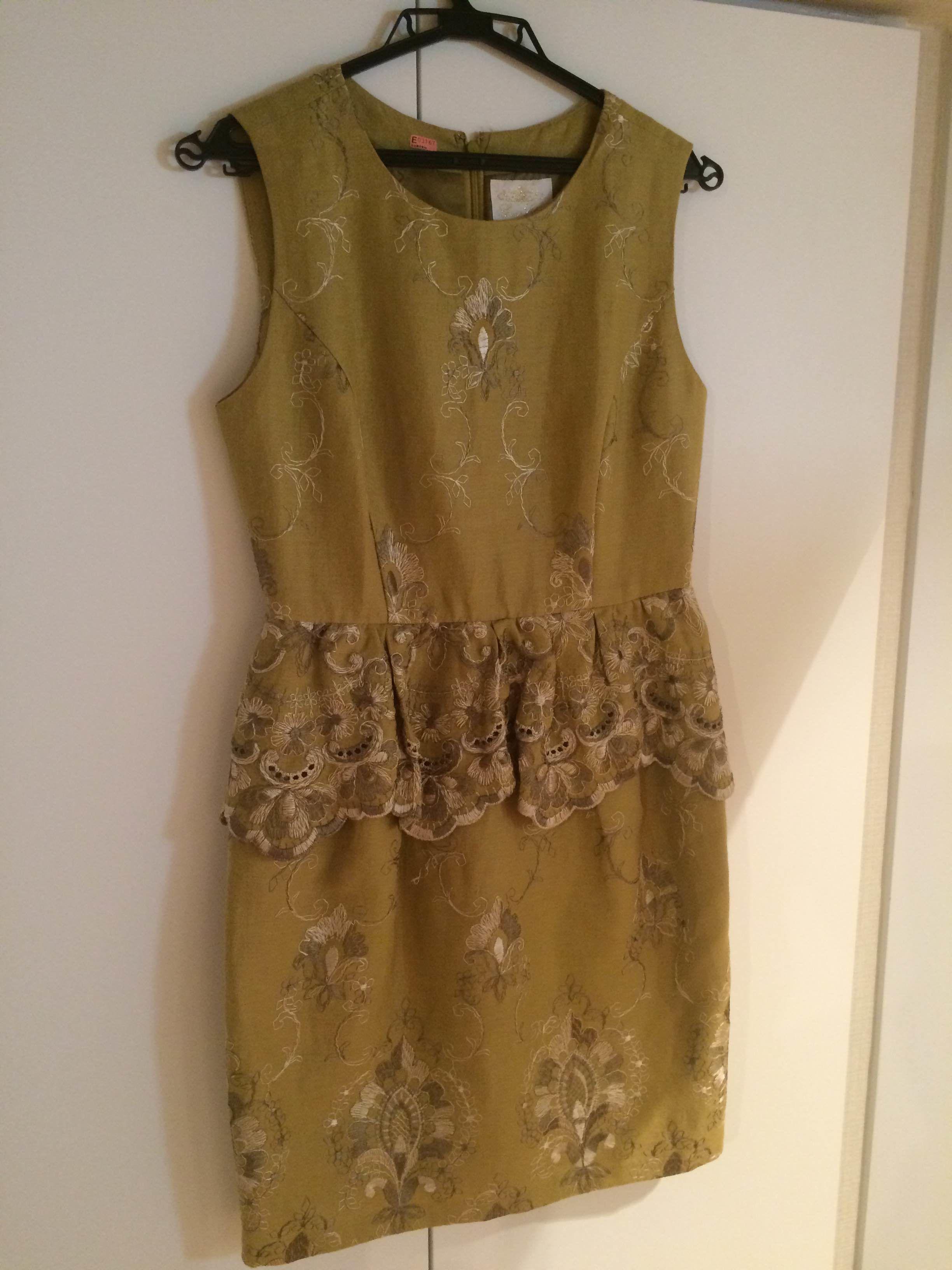GRACE CONTINENTAL (グレースコンチネンタル) ゴージャス刺繍ドレス
