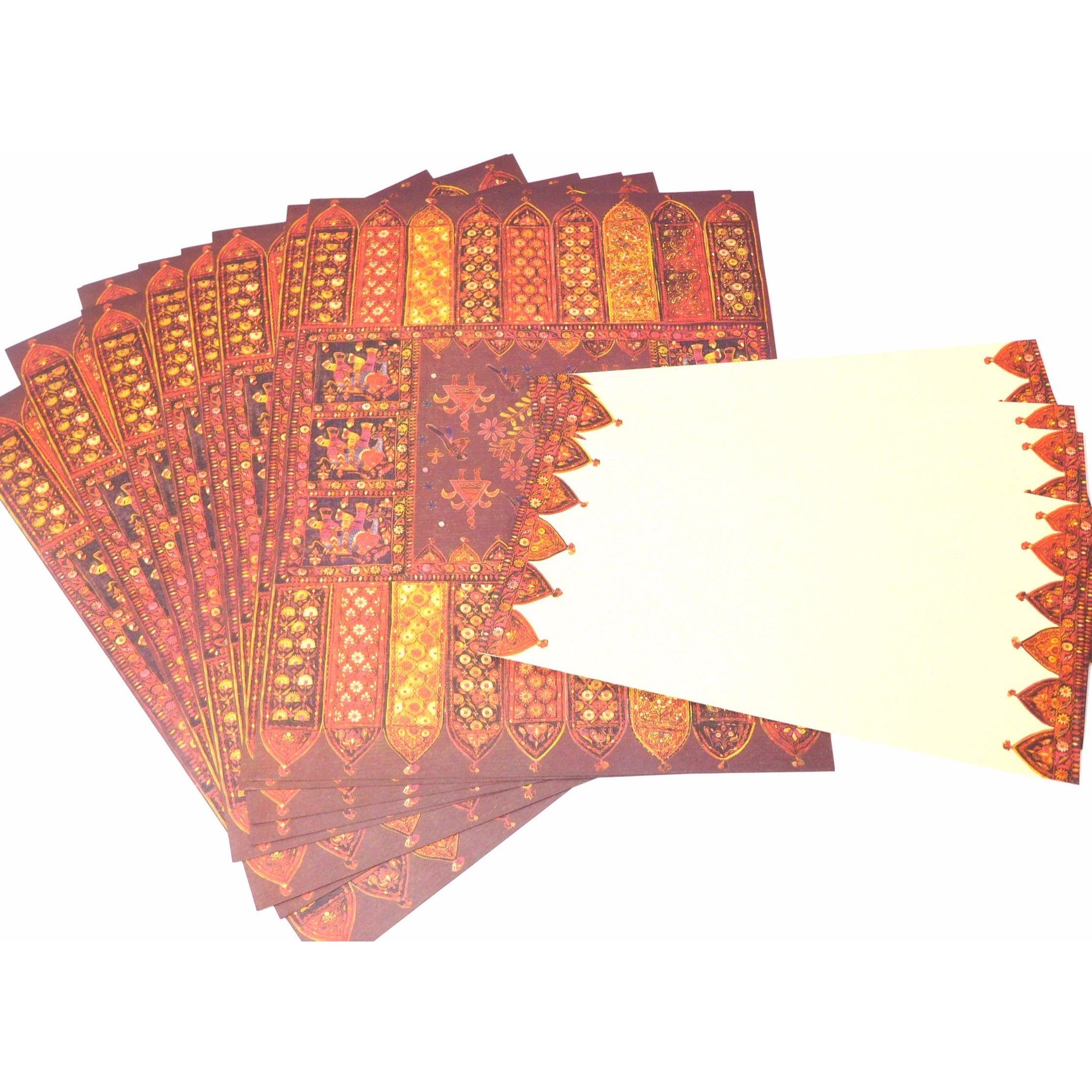 インド高級紙エスニック柄レターセット