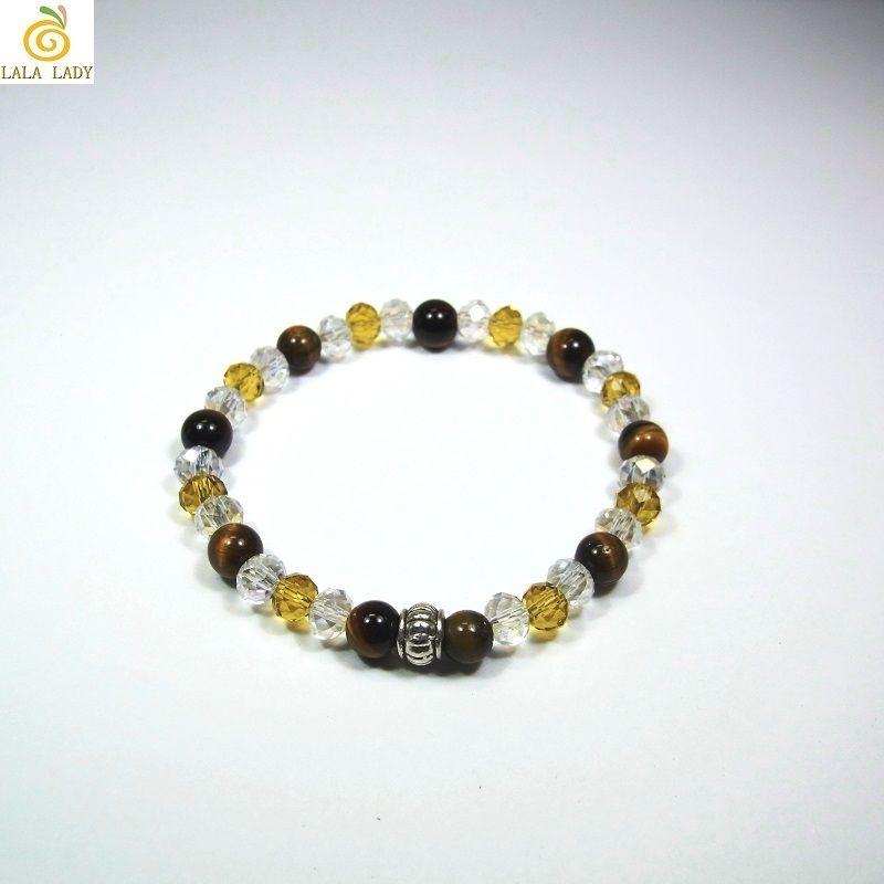 Pixie 天然石&ビーズ ブレスレット Ver.R タイガーアイ 金運◆lalalady-95