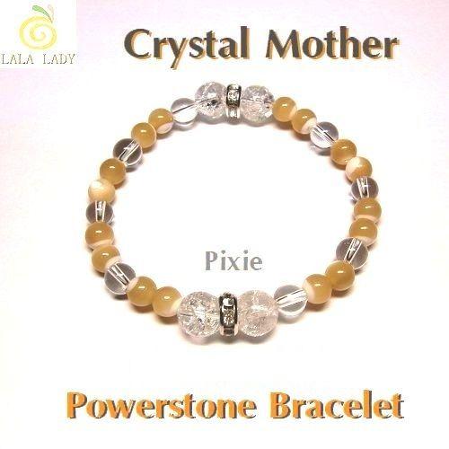 パワーストーン ブレスレット◆全体 家庭 健康運◆Pixie Crystal Mother◆lalalady-21