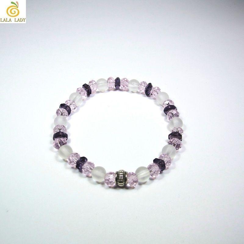 Pixie 天然石&ビーズ ブレスレット Ver.R クリスタル 全体運◆lalalady-93