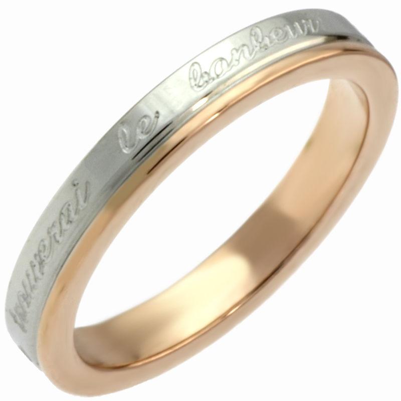 指輪 ステンレス リング◆G-ブランド ル・ボナーリング ピンク◆SR-1290