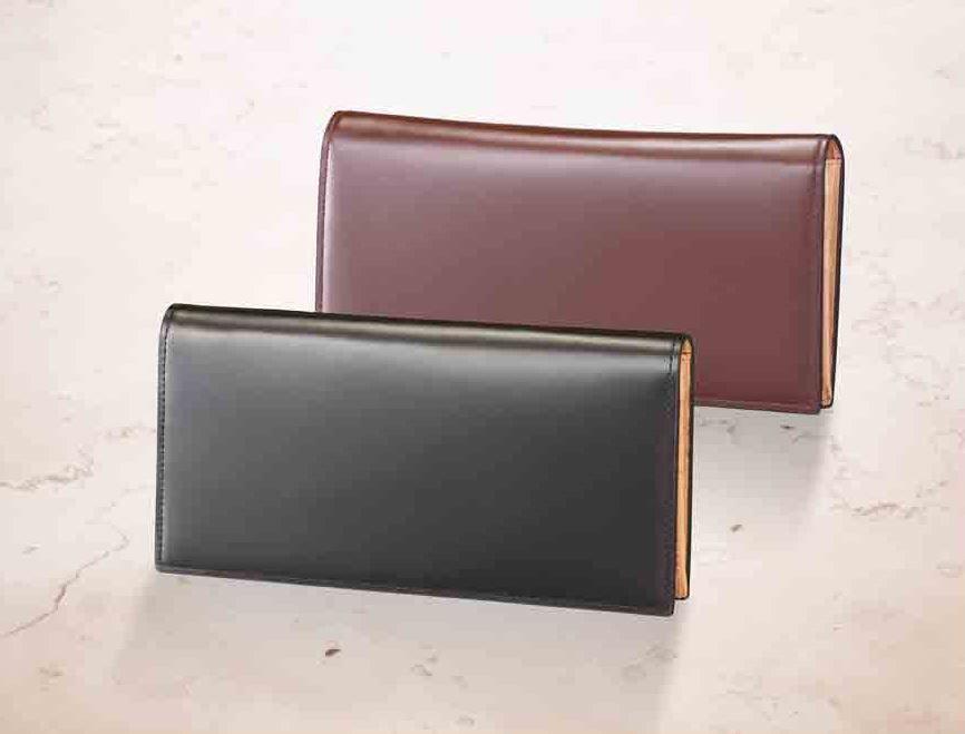 長財布 ウォレット◆コードバン 馬革 イタリアで丹念に鞣した高級品◆K12068