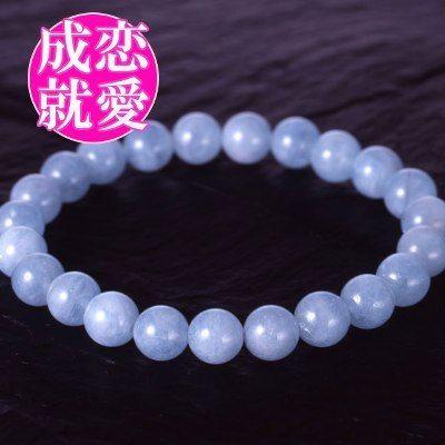 天然石 パワーストーン 恋愛運・健康運他◆アクアマリンブレスレット HR◆4534