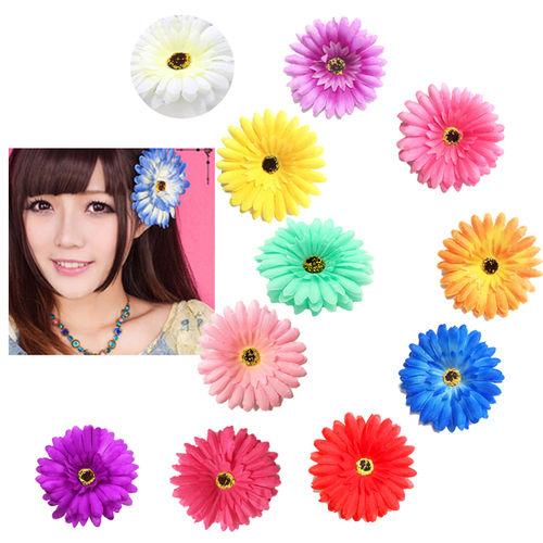 NEW花かんむり★造花可愛いガーベラヘアアクセサリー★(C0018800ーb-2)