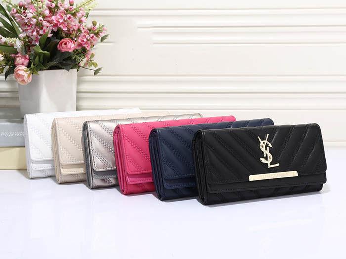 Yves Saint-Laurent /イヴ・サンローラン 人気美品 通勤 長財布 男女兼用