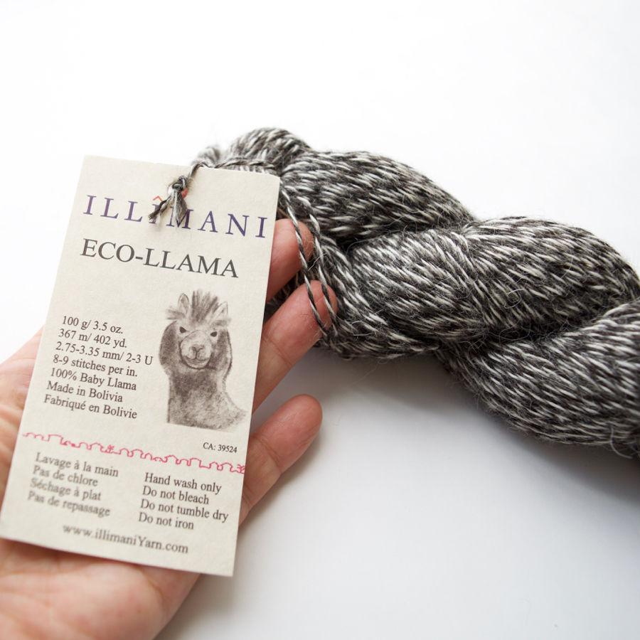 3営業日以内に発送可能:[illimani] De-haired Baby Llama/Fingering weight『ECO LLAMA』100gかせ 無染色ベビーリャマ100%