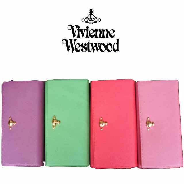 Vivienne Westwood ヴィヴィアンウエストウッド財布 長財布 レザー [VW-15]
